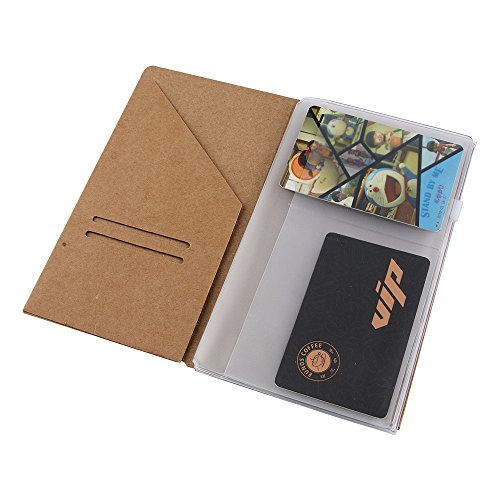 S-kumquat (2-Pack) Kraft File Folder and Clear Plastic Zipper Pouch,Travelers Notebook Refill Personal Size 6.5