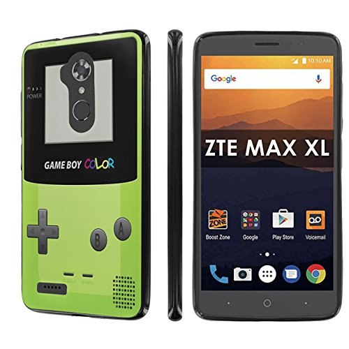 size 40 89ee1 d2476 ZTE [Max XL] [Blade Max 3 Z986] [Max Blue] [NakedShield] [Black] Total  Armor Rubber Gel Phone Case - [Game Boy Color] for ZTE [Max XL] [Blade Max  3 ...