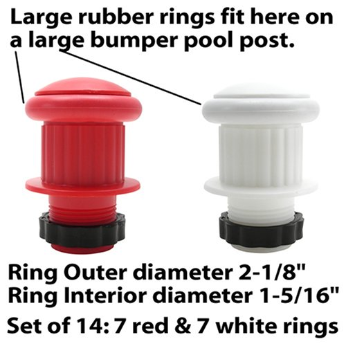 Amazon.com : Large Rubber Rings for Bumper Pool Table: 7 Red and 7 ...