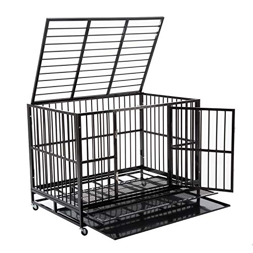 Walcut Heavy Duty Strong Metal Pet Dog Cage Crate Cannel Playpen...