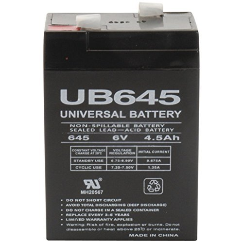 - UPG 85998/D5733 Sealed Lead Acid Batteries - 6V 4.5Ah UB645 Electronics Accessories