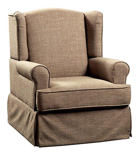 - 247SHOPATHOME IDF-RC6508BR Rocking Chair, One Size, Brown