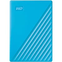 Western Digital 2TB My Passport Portable External Hard Drive, Blue - with Automatic Backup, 256Bit AES Hardware Encryption & Software Protection
