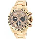 Rolex Daytona 18K Everose Gold 40mm Pink Dial Rehaut Bezel Oyster Mens Watch 116505
