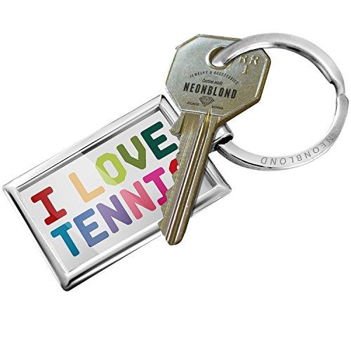 Keychain I Love Tennis,Colorful - (Love Tennis Key Ring)