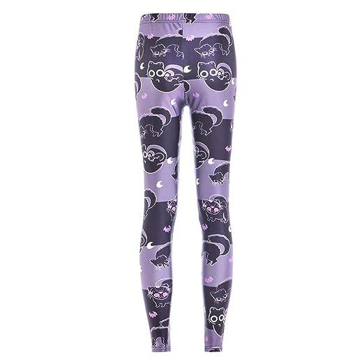 Dongwall Pantalones Negros Delgados para Mujer Nueva impresión ...