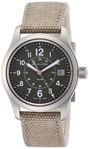Hamilton Khaki Field Olive Geen Dial Mens Quartz Watch H68201963