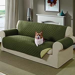 Amazon Com Mason Reversible Sofa Cover Sage Pet Supplies