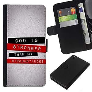All Phone Most Case / Oferta Especial Cáscara Funda de cuero Monedero Cubierta de proteccion Caso / Wallet Case for HTC DESIRE 816 // BIBLE God Is Stronger