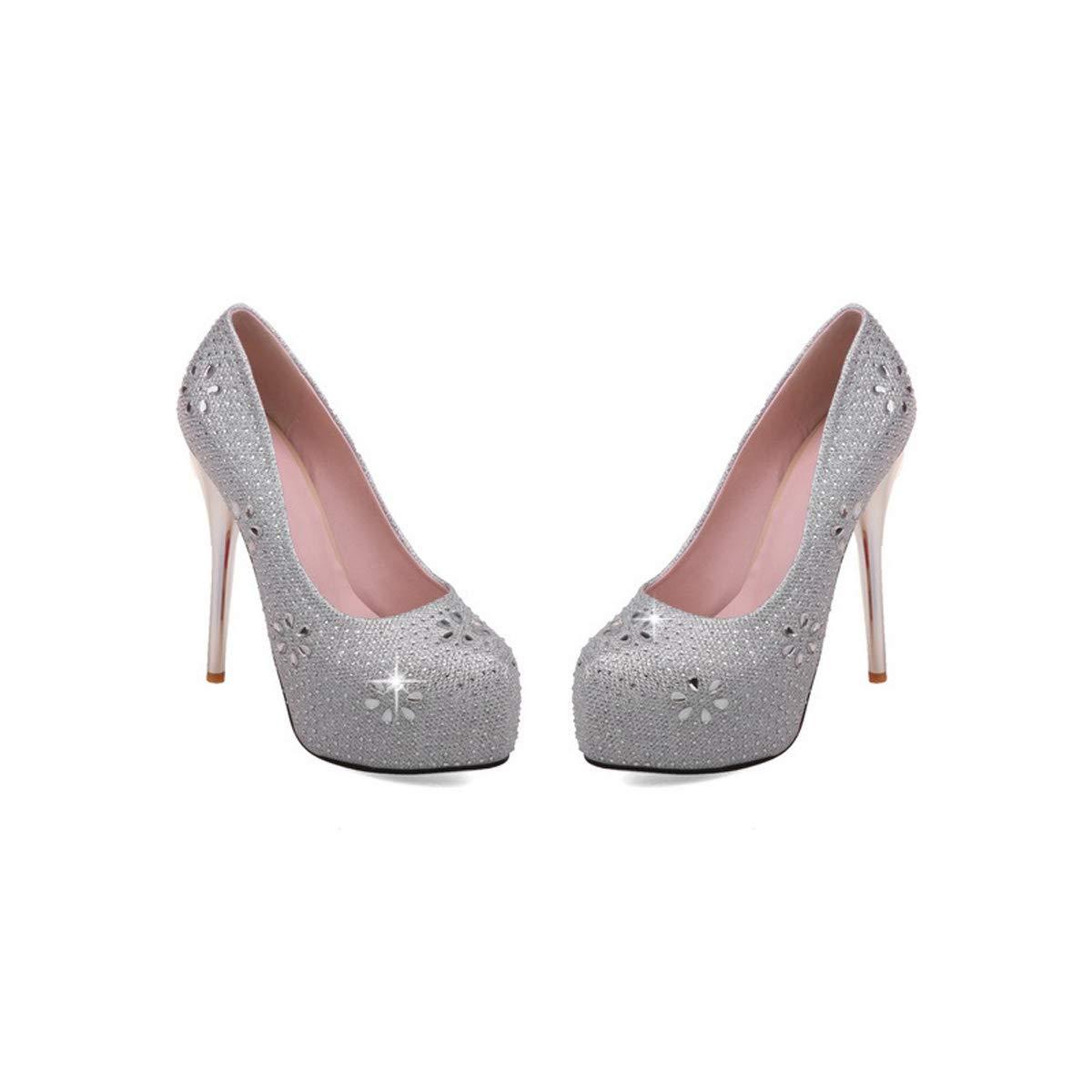 DANDANJIE Frauen Strass Hochzeit Schuhe Slip On On On High Heel Schuhe Frühling Stiletto Heel Party Court Schuhe  a4447b