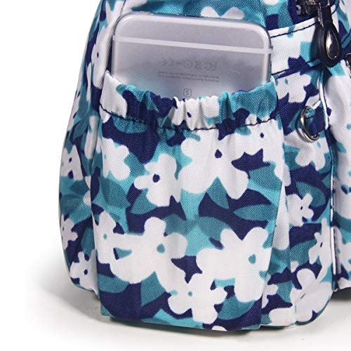 Messenger Anti 2 floral Shoulder Water Splash Crossbody Bags ABLE Women cyan wXxfqXp