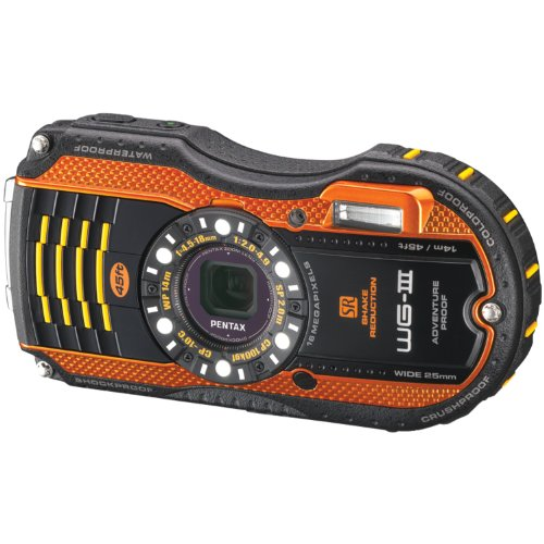 Pentax Optio WG-3 orange 16 MP Waterproof Digital Camera with 3-Inch LCD Screen (Orange) (Underwater Camera Pentax)