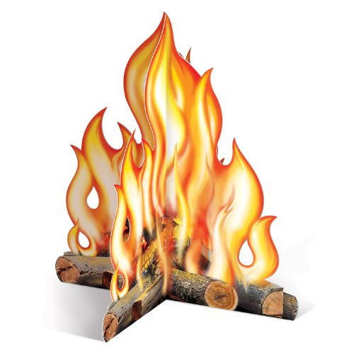 Western Party Decorations (Beistle 57322 3D Campfire Centerpiece, 12-Inch)