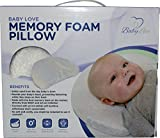 Baby Head Shaping Memory Foam Pillow & Bamboo Pillowcase. KEEP an Infant's head round. Prevent Plagiocephaly or Flat Head Syndrome