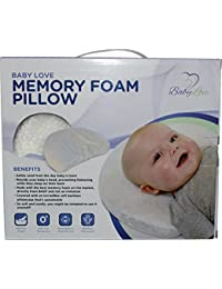 Baby Head Shaping Memory Foam Pillow & Bamboo Pillowcase. KEEP an Infant's head round. Prevent Plagiocephaly or Flat Head Syndrome BOBEBE Online Baby Store From New York to Miami and Los Angeles