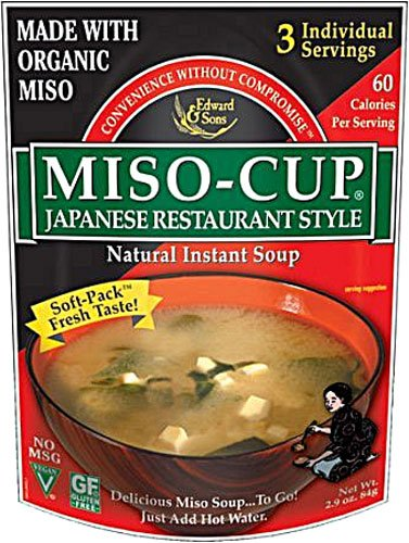 Edward & Sons Japanese Restaurant Style Miso Cup Soup -- 2.9 oz - 2 pc
