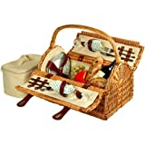 Picnic at Ascot Sussex Willow Picnic Basket with Service for 2 - Gazebo