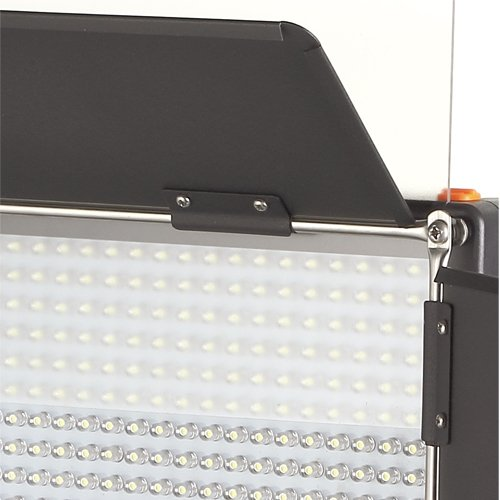 576AS Bi-Color Dimmable LED Video Light Panel with Barndoor, LCD Touch Screen and V-Mount Plate
