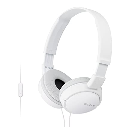 16b0dd930a8 Sony MDR-ZX110AP On-Ear Stereo Headphones with Mic: Amazon.in: Electronics