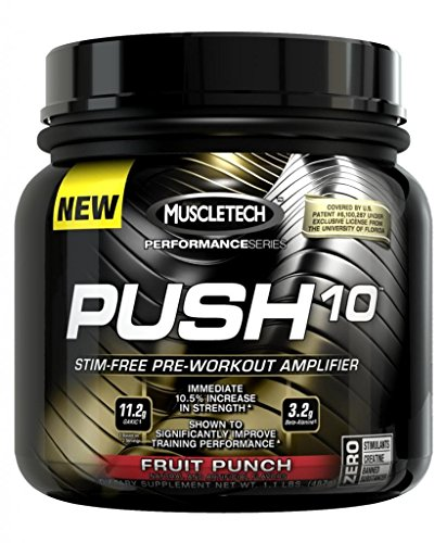 Supplément Muscletech Push-10 alimentation, Fruit Punch, 1.1 Pound