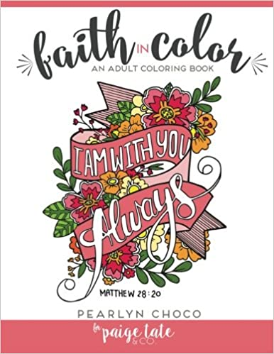 Amazon Com Faith In Color An Adult Coloring Book 9781941325360
