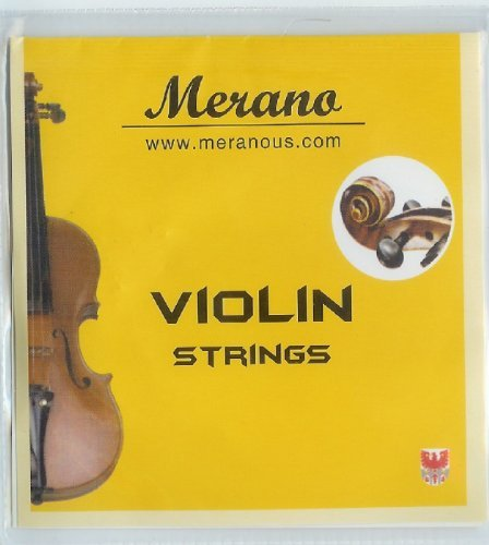 Merano 4/4 - 3/4 Size Violin String Set (G-D-A-E) ~ Beginner, Student, Replacement - Bass Sets Cello