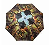48 Inch `Sweet Rose` Bamboo Stick Umbrella J.W. Waterhouse
