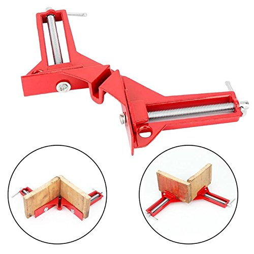 1//4PCS 90Degree Right Angle Clamp Clip Clamps Corner Holder Woodworking Tool SET