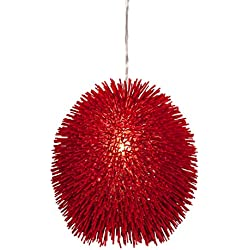 Varaluz 169P01RE Urchin 1-Light Pendant - Super Red Finish