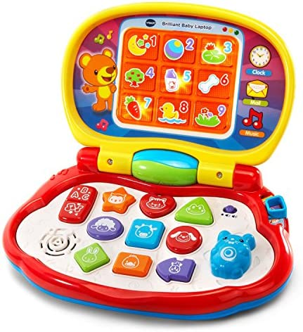 VTech Brilliant Baby Laptop red product image