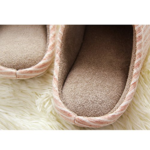Cozy Men Women Winter Cotton Tatami Antiskid Pink Slipper for Slippers House Awq75