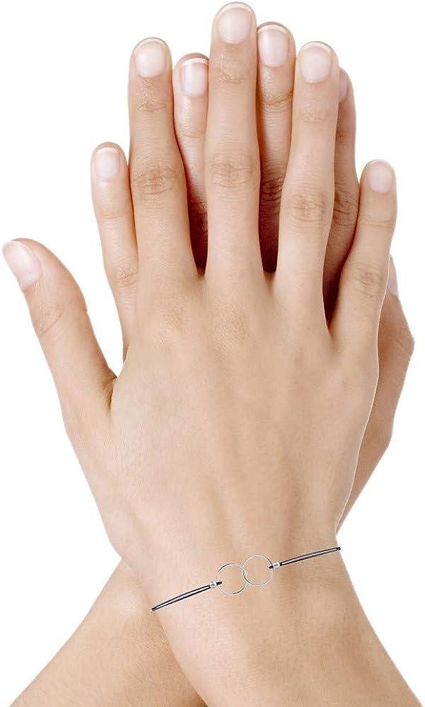 Classics Bracelet Lien Argent Anneaux Toi et Moi Les Poulettes Bijoux