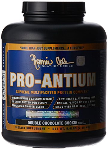 Ronnie Coleman Signature Series Pro-Antium, Great Tasting Supreme Multifaceted Protein Powder, Double Chocolate Cookie, 5.6 Pound