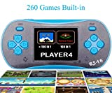 QINGSHE Kids Handheld Game Player, Portable 2.5'' Color LCD Video Game Player with 260 in 1 Games,Perfect Birthday Gift for Children-Blue