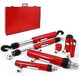 XtremepowerUS 7PC Hydraulic Ram Auto Body Vehicle Frame Repair Tool Collision Kit w/ Case