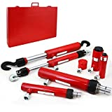 XtremepowerUS 7PC Hydraulic Ram Auto Body Vehicle Frame Repair Tool Collision Kit w/ Case
