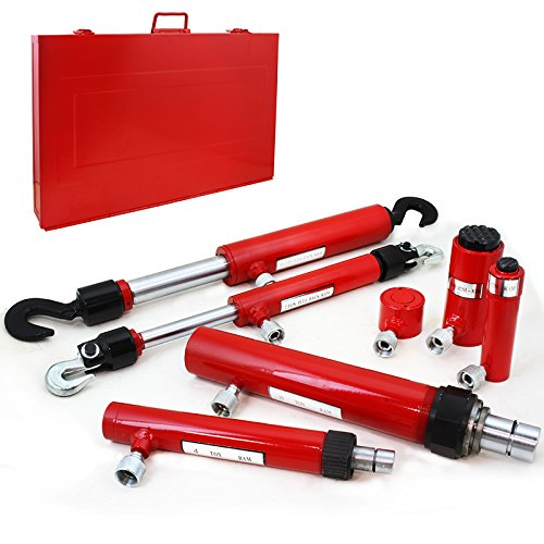 XtremepowerUS 7PC Hydraulic Ram Auto Body Vehicle Frame Repair Tool Collision Kit w/ Case by XtremepowerUS