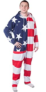 2c872209e3 CoZone USA Hooded Jumpsuit Adult Onesie at Amazon Women s Clothing ...