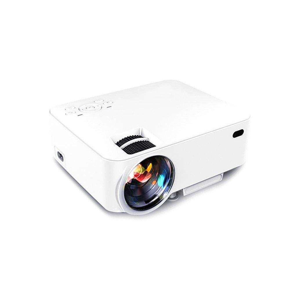Morrivoe MRT20 Mini LED Video Projector Office Projector Outdoor/Indoor Home Projector Support 1080P USB/AV/SD/HDMI/VGA Interface-Ideal for Video Games/ Movie Night/Family Videos/Pictures