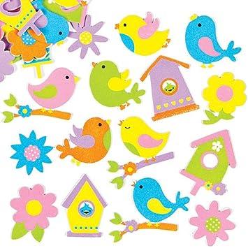 Pegatinas de Espuma con Diseños de Pájaros de Primavera para ...