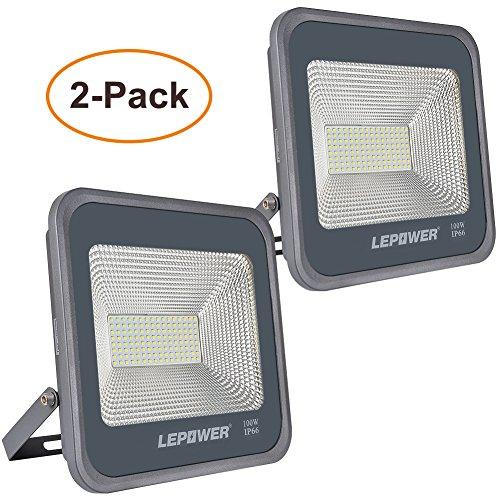 LED Flood Lights, IP66 Waterproof, 9000lm, 6000K Outdoor Floodlights with Plug, 500W Halogen Bulb Equivalent Led Outdoor Flood Lamp(White Light) ()