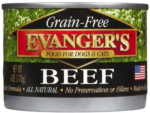 EVANGER'S 776280 24-Pack Grain Free 100-Percent Beef for Dogs and Cats, 6-Ounce, My Pet Supplies