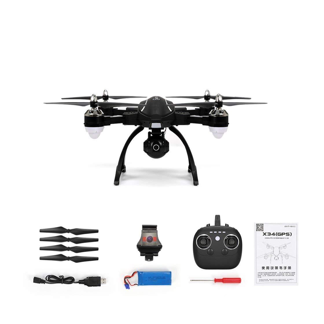 RC Drone X34C Dual Dual Dual Modus 5,8G FPV Mit 720 P HD Kamera GPS Höhe Eine Taste Return Headless Modus RC Quadcopter Drone 021de2