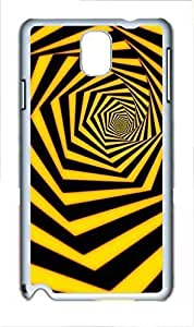 Fashion Style With Digital Art - Yellow and Black Line Skid PC Back Cover Case for Samsung Galaxy Note 3 N9000