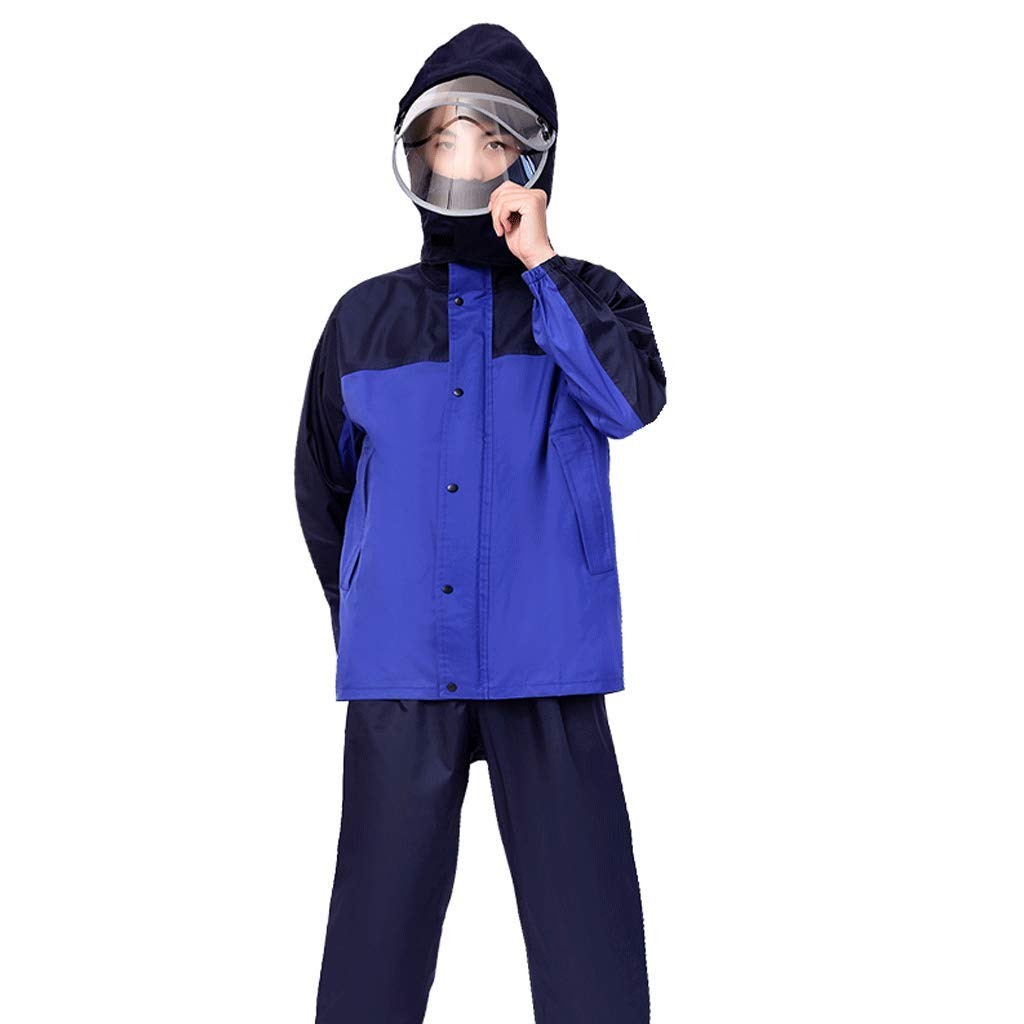 CYT Pantaloni Impermeabili da Uomo Impermeabili da Donna (Colore : Blu, Dimensioni : XXXL)