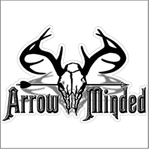 amazoncom arrow mindedfunny hunting decal deer car With kitchen colors with white cabinets with funny bumper stickers for trucks