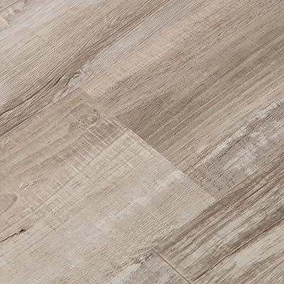 Cali Bamboo - Cali Vinyl Plus Cork-Backed Vinyl Floor, Extra Wide, Gray Ash Wood Grain - Sample