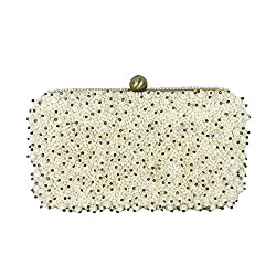Pearl Beaded Bridal Clutch