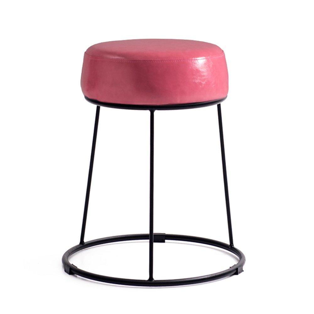 龙飞@ 低いスツール、柔らかい表面厚いスツール、小さいスツール、怠惰な小さなベンチ、北欧の鉄製のスツール スツール ( 色 : ピンク ぴんく ) B077N5R1GL ピンク ぴんく ピンク ぴんく