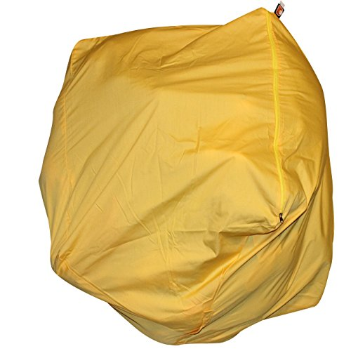 EXTRA LARGE Stuffed Animal Bean Bag Storage - Premium Childrens Plush Toy Organizer (Yellow)